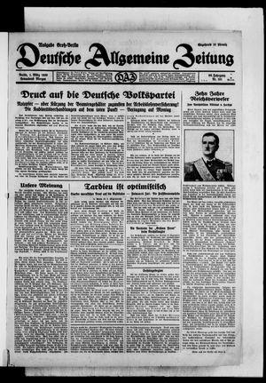 Deutsche allgemeine Zeitung on Mar 1, 1930