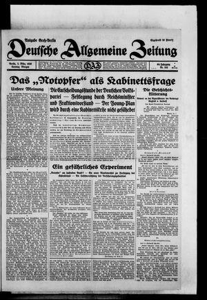 Deutsche allgemeine Zeitung vom 02.03.1930