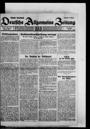 Deutsche allgemeine Zeitung vom 03.03.1930