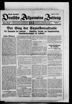 Deutsche allgemeine Zeitung vom 06.03.1930