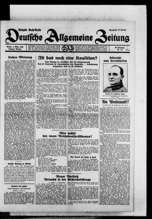 Deutsche allgemeine Zeitung vom 09.03.1930