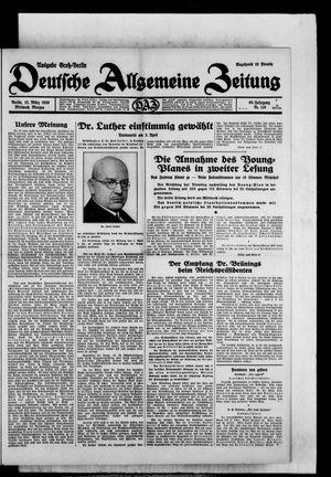 Deutsche allgemeine Zeitung vom 12.03.1930