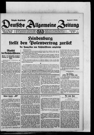 Deutsche allgemeine Zeitung vom 13.03.1930
