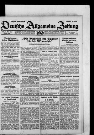 Deutsche allgemeine Zeitung vom 14.03.1930