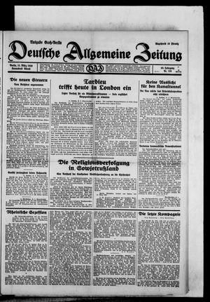 Deutsche allgemeine Zeitung vom 15.03.1930