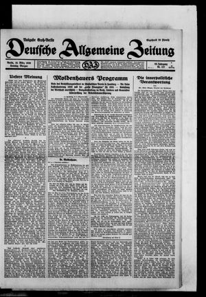 Deutsche allgemeine Zeitung vom 16.03.1930