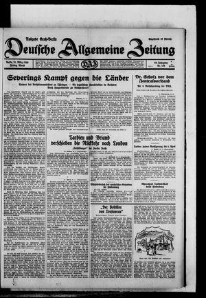 Deutsche allgemeine Zeitung vom 21.03.1930