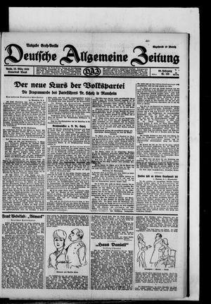 Deutsche allgemeine Zeitung vom 22.03.1930