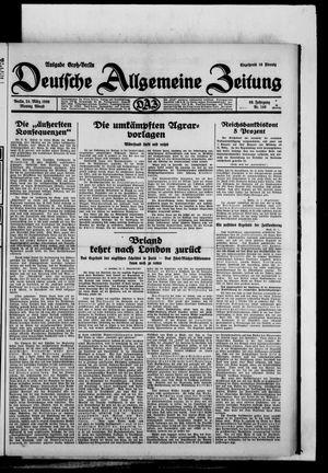 Deutsche allgemeine Zeitung vom 24.03.1930