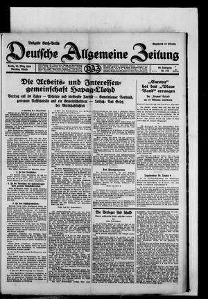 Deutsche allgemeine Zeitung vom 25.03.1930