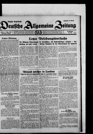 Deutsche allgemeine Zeitung vom 27.03.1930