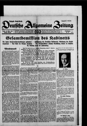 Deutsche allgemeine Zeitung vom 28.03.1930