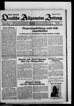 Deutsche allgemeine Zeitung vom 29.03.1930