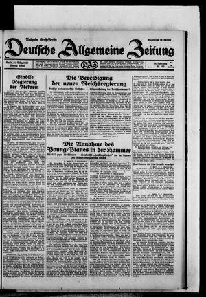 Deutsche allgemeine Zeitung vom 31.03.1930