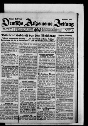 Deutsche allgemeine Zeitung vom 02.04.1930