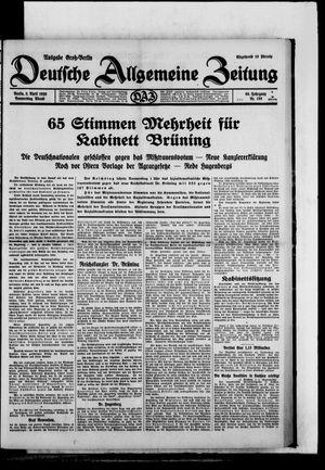 Deutsche allgemeine Zeitung vom 03.04.1930