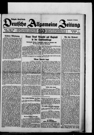 Deutsche allgemeine Zeitung vom 04.04.1930