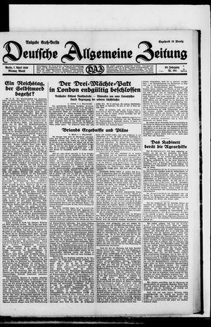 Deutsche allgemeine Zeitung vom 07.04.1930