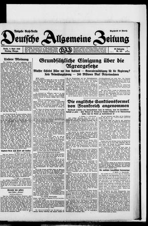 Deutsche allgemeine Zeitung vom 08.04.1930