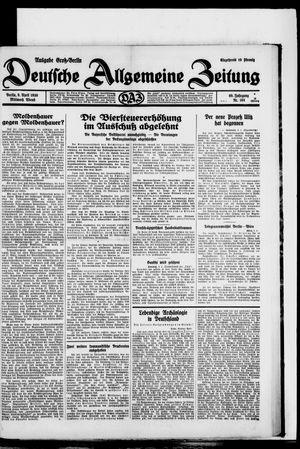 Deutsche allgemeine Zeitung vom 09.04.1930