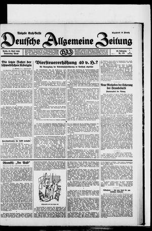 Deutsche allgemeine Zeitung vom 10.04.1930