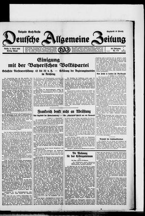 Deutsche allgemeine Zeitung on Apr 11, 1930