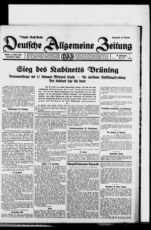 Deutsche allgemeine Zeitung vom 12.04.1930