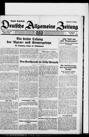 Deutsche allgemeine Zeitung vom 14.04.1930