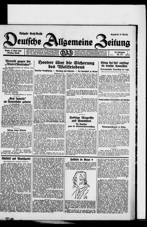 Deutsche allgemeine Zeitung on Apr 15, 1930