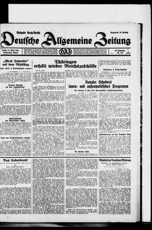 Deutsche allgemeine Zeitung vom 17.04.1930