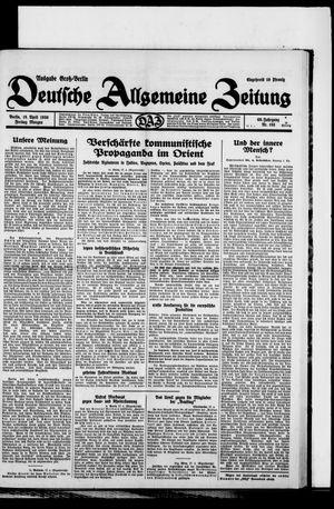Deutsche allgemeine Zeitung vom 18.04.1930