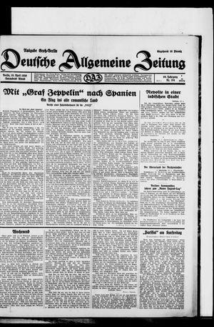Deutsche allgemeine Zeitung vom 19.04.1930