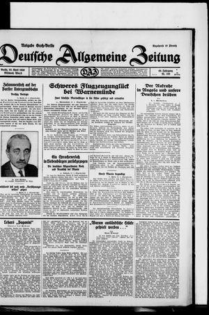 Deutsche allgemeine Zeitung vom 23.04.1930
