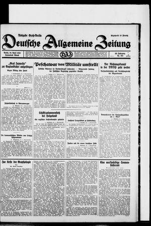Deutsche allgemeine Zeitung vom 26.04.1930