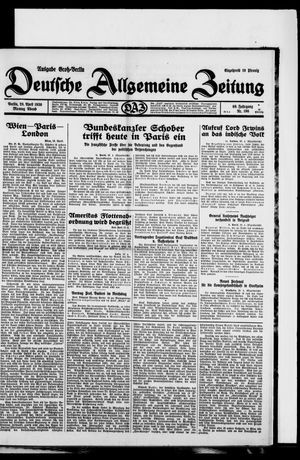 Deutsche allgemeine Zeitung vom 28.04.1930