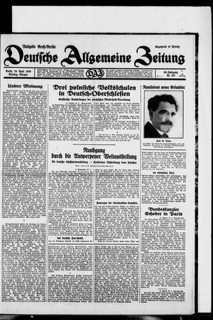 Deutsche allgemeine Zeitung vom 29.04.1930