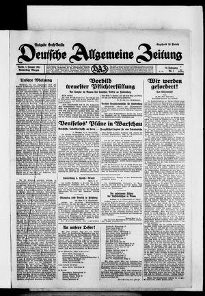 Deutsche allgemeine Zeitung vom 01.01.1931