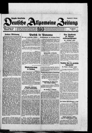 Deutsche allgemeine Zeitung vom 03.01.1931