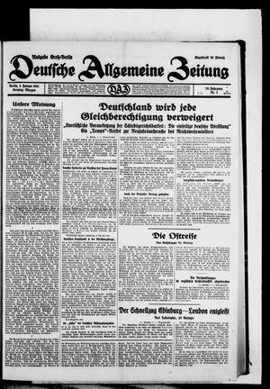 Deutsche allgemeine Zeitung vom 04.01.1931