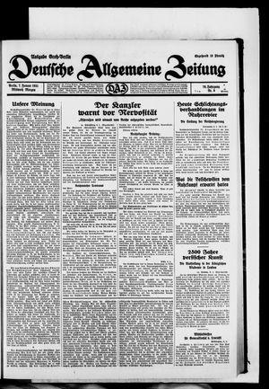 Deutsche allgemeine Zeitung vom 07.01.1931