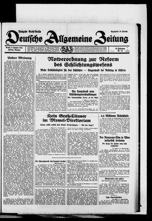 Deutsche allgemeine Zeitung vom 09.01.1931