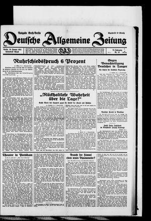 Deutsche allgemeine Zeitung vom 10.01.1931