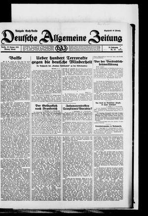 Deutsche allgemeine Zeitung vom 12.01.1931