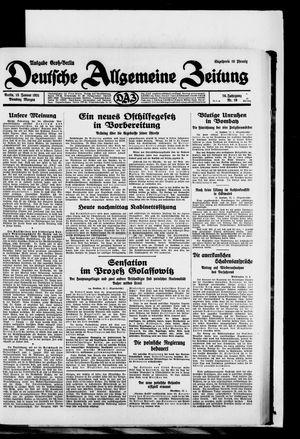 Deutsche allgemeine Zeitung vom 13.01.1931