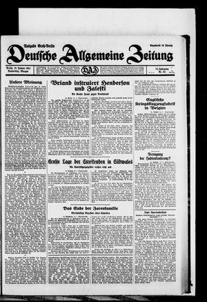 Deutsche allgemeine Zeitung vom 15.01.1931