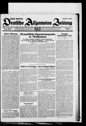 Deutsche allgemeine Zeitung vom 16.01.1931