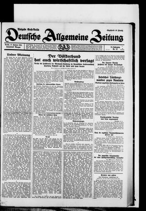 Deutsche allgemeine Zeitung vom 17.01.1931