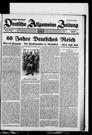 Deutsche allgemeine Zeitung vom 18.01.1931