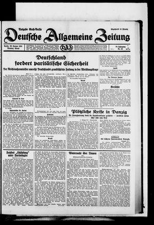 Deutsche allgemeine Zeitung vom 20.01.1931