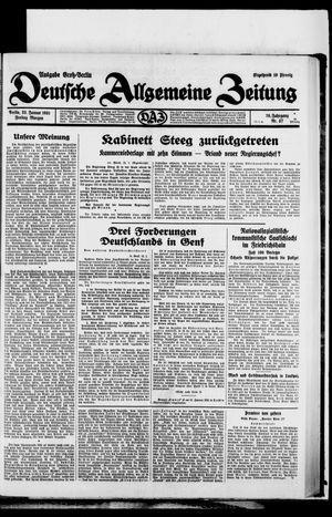Deutsche allgemeine Zeitung vom 23.01.1931